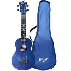 FLIGHT TUS 35 DB Укулеле Travel, сопрано,синяя, пластик