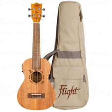 FLIGHT DUC323 EQ MAH - укулеле, концерт, цвет натурал, звукосниматель