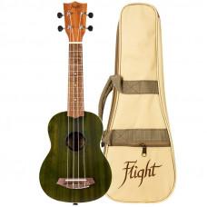 FLIGHT NUS380 JADE - укулеле, сопрано, зеленый, корпус - сапеле