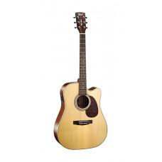 MR600F-NS MR Series Электро-акустическая гитара, с вырезом, цвет натуральный матовый, Cort