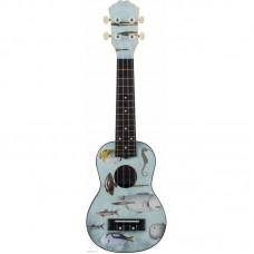 DAVINCI VINS-20FISH - укулеле сопрано, рисунок рыбы, пластик